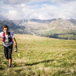 Cristofer Clemente segundo en la Trail 100 Andorra-Pyrenees. Fotografía Oriol Batista by The IRONMAN Group